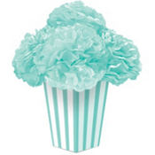 Robin's Egg Blue Fluffy Flower Centerpiece Kit 6pc