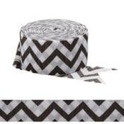 Black & White Chevron Streamer
