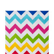 Bright Chevron Lunch Napkins 36ct