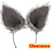 Oversized Gray Wolf Ears Deluxe