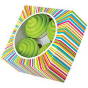 Multicolor Stripe Cupcake Boxes 3ct