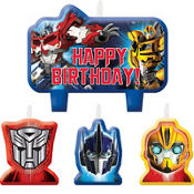 Transformers Birthday Candles 4ct
