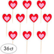 Valentine's Day Heart Party Picks 36ct