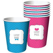 Little Man, Little Miss Gender Reveal Cups 8ct