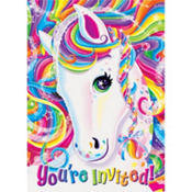 Lisa Frank Rainbow Horse Invitations 8ct