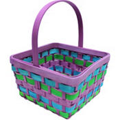 Large Pastel Wood Easter Basket