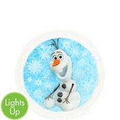 Yazzles Light-Up Olaf Round Sticker Badge - Frozen