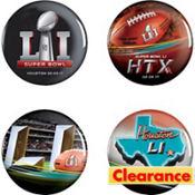 Super Bowl Buttons 4ct