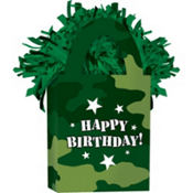 Happy Birthday Camouflage Balloon Weight