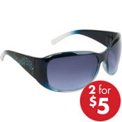 Blue Rhinestone & Black Sunglasses