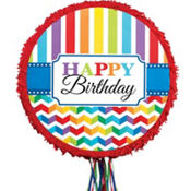 Pull String Bright Chevron Birthday Pinata