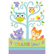 Baby Shower Thank You Notes 8ct - Woodland