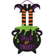 Glitter Trick or Treat Sign - Witch's Crew