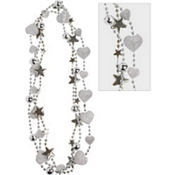 Child Silver Heart & Star Necklaces 3ct