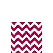 Berry Chevron Beverage Napkins 16ct