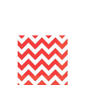 Red Chevron Beverage Napkins 16ct