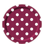 Berry Polka Dot Lunch Plates 8ct