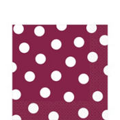 Berry Polka Dot Lunch Napkins 16ct