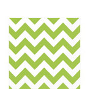 Kiwi Green Chevron Lunch Napkins 16ct
