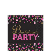 Metallic Bachelorette Party Beverage Napkins 16ct - Sassy Bride