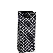 Metallic Black Moroccan Bottle Bag