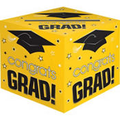 Yellow Graduation Card Holder Box - Congrats Grad