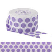 Lavender Polka Dot Streamer