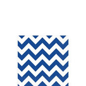 Royal Blue Chevron Beverage Napkins 16ct