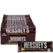 Milk Chocolate Almond Hershey's Bars 36ct