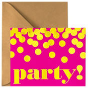 Metallic Dots Pink Invitations 8ct