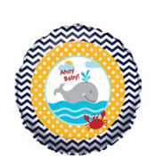 Baby Shower Balloon - Ahoy Nautical