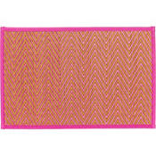 Bright Pink Chevron Bamboo Placemat
