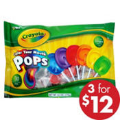 Crayola Color Your Mouth Lollipops 32ct