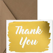 Metallic Gold Thank You Notes 20ct