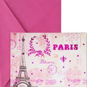 Metallic Pink Paris Note Cards 20ct