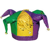 Sequined Mardi Gras Jester Hat