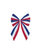 Velvet Flag Bow 9in