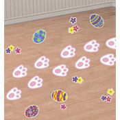 Easter Bunny Prints Floor Decorations 18ct