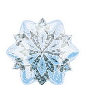 Foil Prismatic Snowflake Balloon 14in