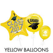Yellow Graduation Balloons