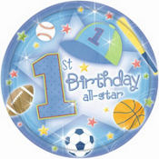 All Star 1st Birthday Party Supplies