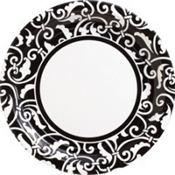 Black Ornamental Scroll Party Supplies