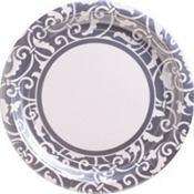 Silver Ornamental Scroll Party Supplies