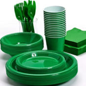 Festive Green Tableware