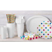 Silver Polka Dot Party Supplies