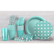 Robin's Egg Blue Polka Dot Party Supplies