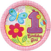 Hugs and Stitches Girls 1st Birthday Party Supplies