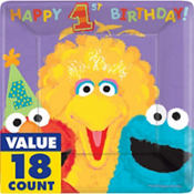 Sesame 1st Birthday Party Supplies