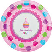 Sweet Cupcake Girl 1st Birthday Party Supplies