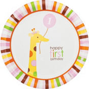 Sweet at One Girl 1st Birthday Party Supplies